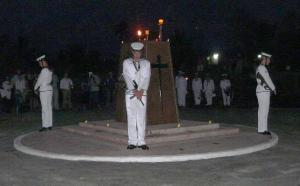 Dawn Service, Rabaul Cenotaph, 11 September 2014
