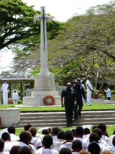 11 September 2014 Centenary Service at Bitapaka, Rabaul Below: Jim Kemsley whose father was with the ANMEF