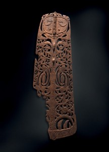 Sawos people, East Sepik Province 'Malu' plaque 19th century, wood. National Gallery of Australia, Canberra, purchased 1977. IRN 116223