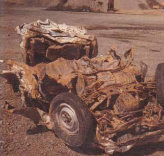 What remained of our Corolla sedan.