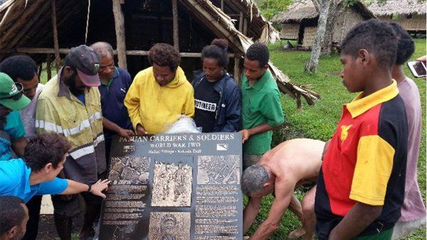 Papuan Carriers Memorial   by RICK MOOR   –    PNGK June 2021