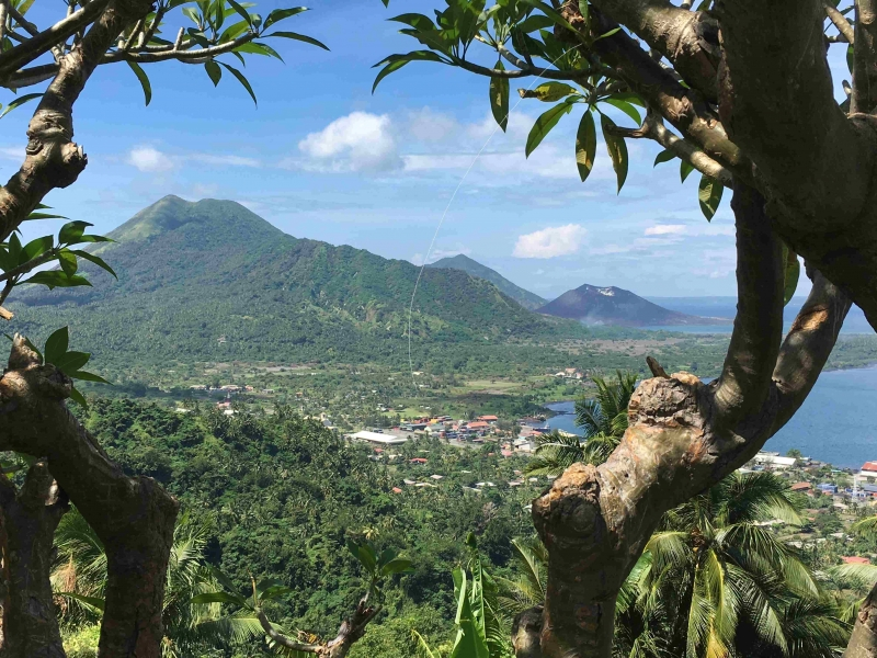35-View of Rabaul town with Mother