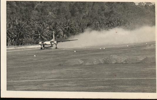 F27 dusty Take off Rabaul no rain 5 weeks