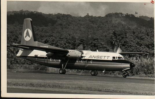 F27 taking off Madang