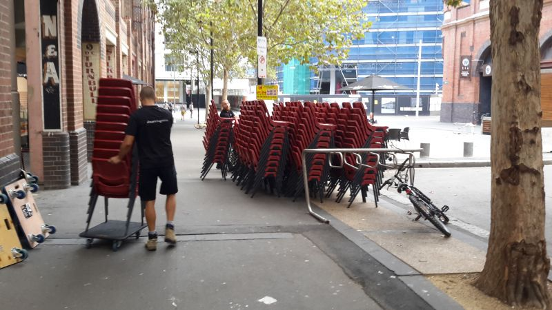 Chairs moved