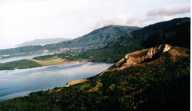 03 - Rabaul_from_the_air-Watom_Is_in_background