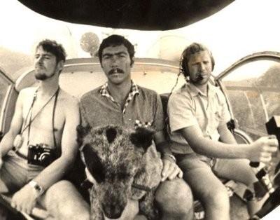 James Aderson - photo journalist - self - Helitrans Pilot Bob Hamilton