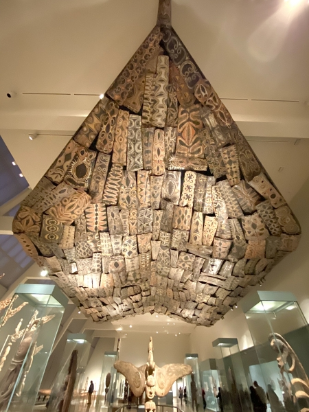 Kwoma ceiling from the Sepik River.